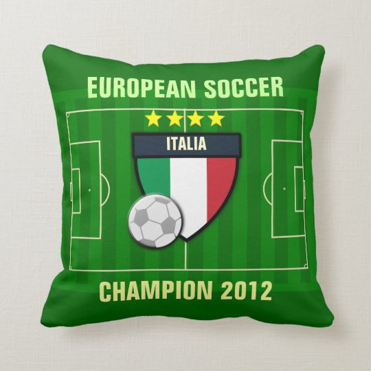 Italia Italy Soccer Champion 2012 Throw Pillow