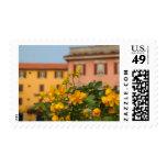 Italia, lago Como, arquitectura colorida adentro