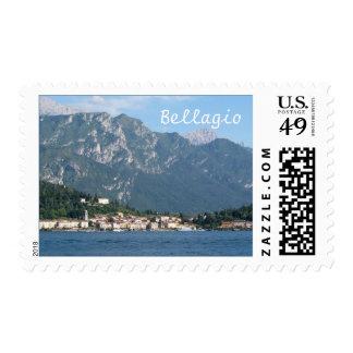 Italia, lago Como, Bellagio Estampilla