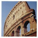 Italia, Lazio, Roma, el Colosseum en la puesta del Azulejo Cuadrado Grande