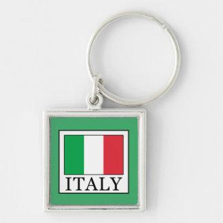 Italia Llavero Cuadrado Plateado