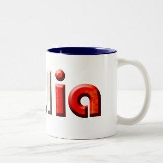 Italia logo gifts for Italians and Italy lovers Two-Tone Coffee Mug
