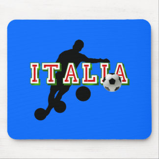 Italia Logo soccer players Bend it Shirt Mouse Pad