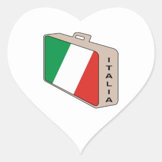Italia Luggage Heart Sticker