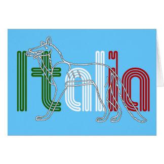 Italia Lupos appenninico Italian wolf gifts Card