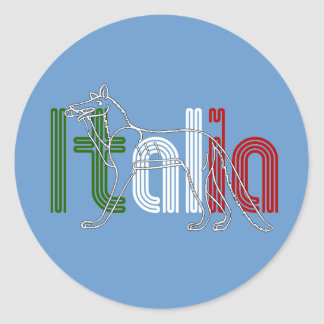 Italia Lupos appenninico Italian wolf gifts Classic Round Sticker