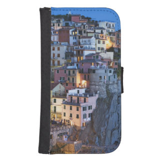 Italia, Manarola. La oscuridad cae en una ciudad d Fundas Cartera De Galaxy S4