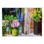 Italia - mercado de la flor - GIRASOLES Tarjeta