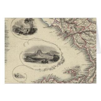 Italia meridional 3 tarjeta de felicitación