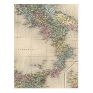 Italia meridional 4 tarjetas postales