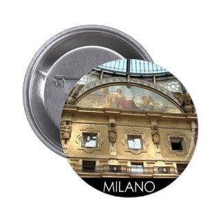 ITALIA MILANO PIN REDONDO DE 2 PULGADAS