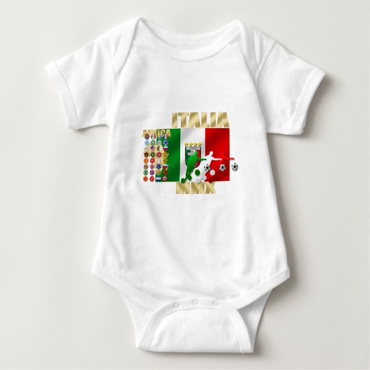Italia MMX Italy flag soccer players artwork gifts Baby Bodysuit