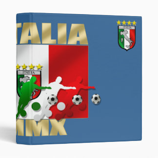 Italia MMX Italy flag soccer players artwork gifts Binder
