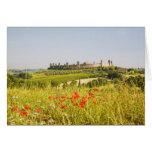 Italia, Monteriggioni, opinión del campo de Tarjeta De Felicitación
