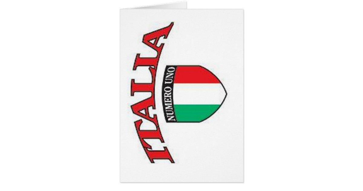 Italia numero uno card zazzle for Numero parlamentari italia