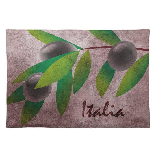 Italia Olives Cloth Placemat