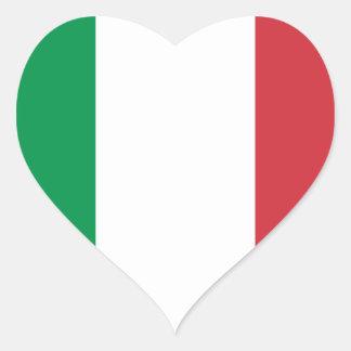Italia Pegatina En Forma De Corazón