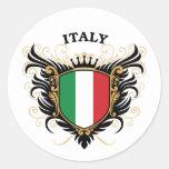 Italia Pegatinas Redondas