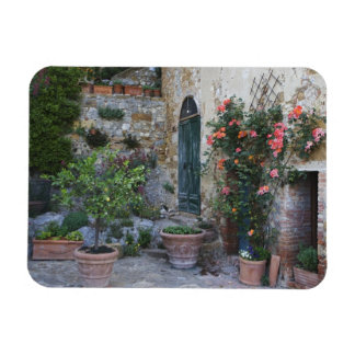Italia, Petroio. Las plantas Potted adornan un pat Imán Rectangular