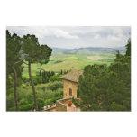 Italia, Pienza. Vista de la Toscana Fotografía