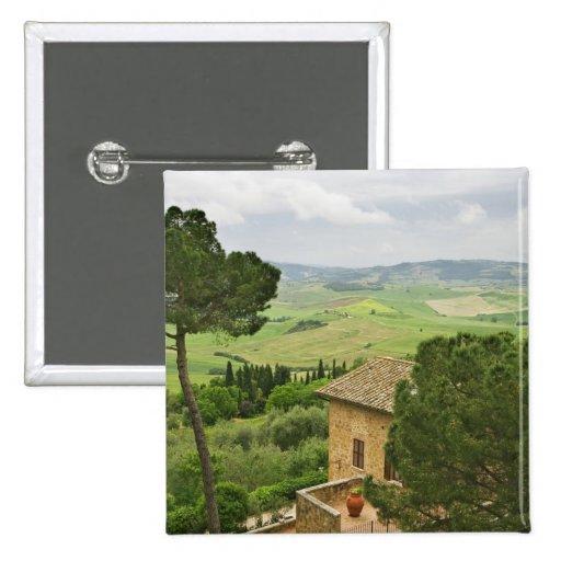 Italia, Pienza. Vista de la Toscana Pin