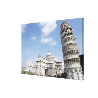 Italia, Pisa. Catedral, baptistry y el inclinarse Impresión En Lienzo Estirada