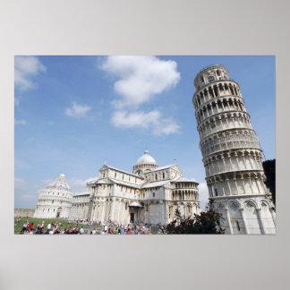 Italia Pisa Catedral baptistry y el inclinarse Impresiones