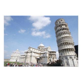 Italia Pisa Catedral baptistry y el inclinarse Foto