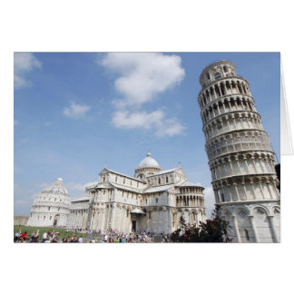 Italia Pisa Catedral baptistry y el inclinarse Felicitaciones