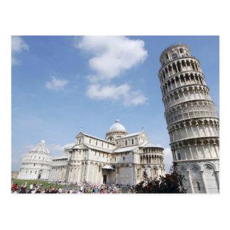 Italia Pisa Catedral baptistry y el inclinarse Tarjetas Postales