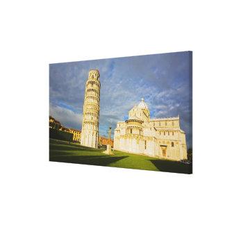 Italia, Pisa, Duomo y torre inclinada, Pisa, 2 Lona Estirada Galerias