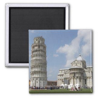 Italia, Pisa. Torre inclinada de Pisa y Imán Cuadrado