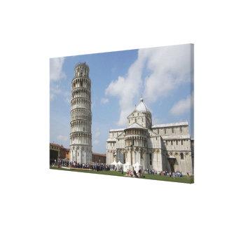 Italia, Pisa. Torre inclinada de Pisa y Impresiones En Lienzo Estiradas