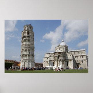 Italia Pisa Torre inclinada de Pisa y Poster