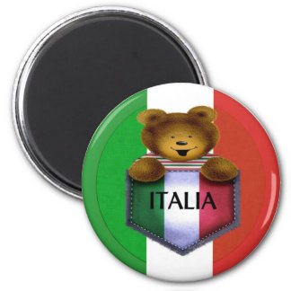 Italia Pocket Bear 2 Inch Round Magnet