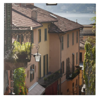 Italia, provincia de Como, Bellagio. Salita Azulejo Cuadrado Grande