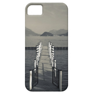 Italia, provincia de Como, Tremezzo. Embarcadero d iPhone 5 Case-Mate Cárcasa