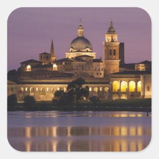Italia provincia de Mantua Mantua Opinión de la Calcomanías Cuadradas