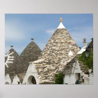 Italia, Puglia, Alberobello, dei Trulli de la tier Póster