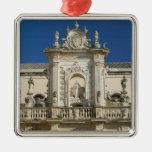 Italia, Puglia, Lecce, Piazza del Duomo, Palazzo Adorno Navideño Cuadrado De Metal