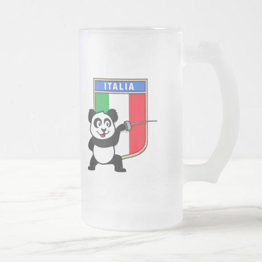 Italia que cerca la panda tazas de café