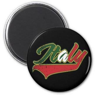 Italia retra imán redondo 5 cm
