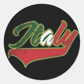 Italia retra etiqueta