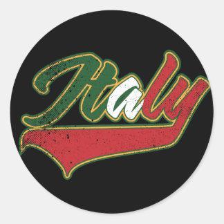 Italia retra pegatina