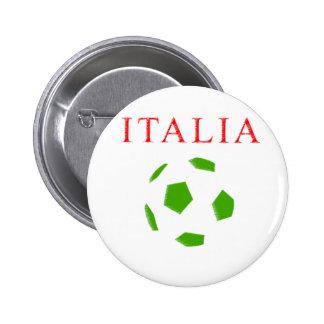 italia retro soccer t shirt pins