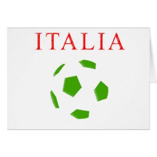 italia retro soccer t shirt greeting cards