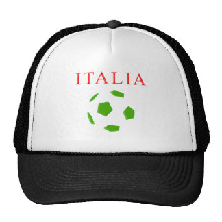 italia retro soccer t shirt mesh hat