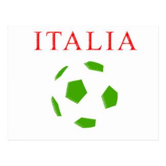 italia retro soccer t shirt postcard