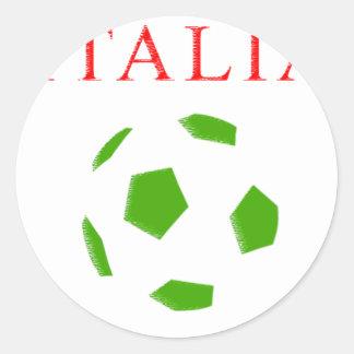 italia retro soccer t shirt round sticker