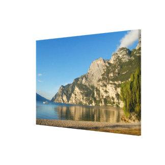 Italia, Riva del Garda, lago Garda, soporte Impresión En Lona Estirada